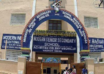 Modern Senior Secondary School Building Image