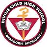 Divine Child High School,  Sir Mathurdas Vasanji Road Logo