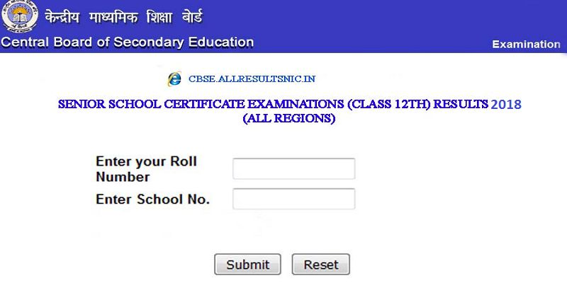 CBSE Class 12<sup>th</sup> Results