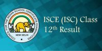 ISCE (ISC) Class 12<sup>th</sup> Results