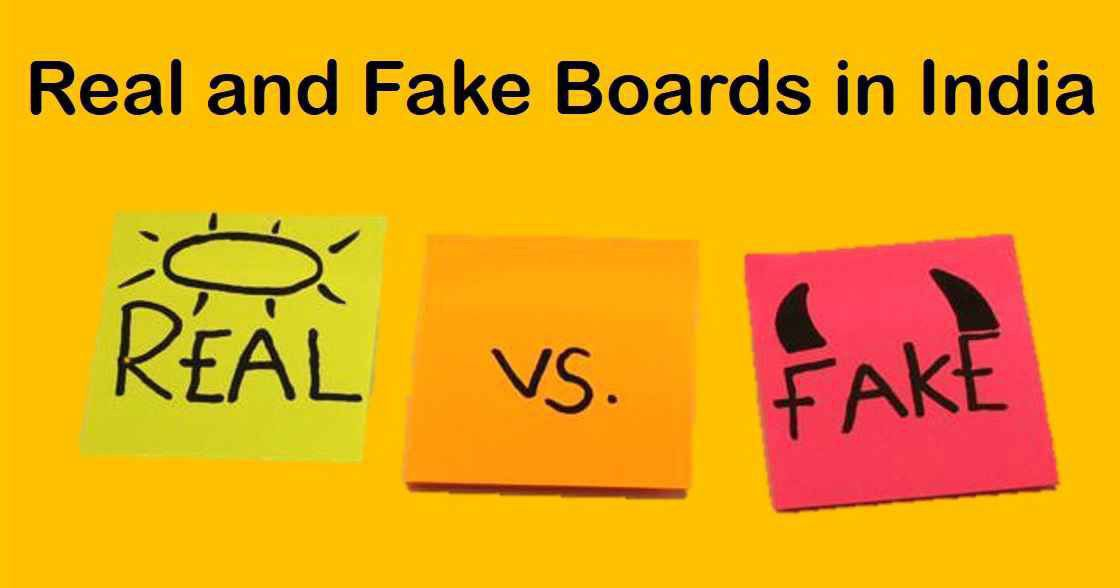 Real And Fake Education Boards In India